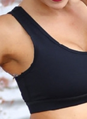 Spaghetti Strap Backless Yoga Sports Bra