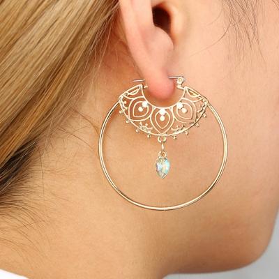 Fashion Alloy Round Circle Drop Earrings STYLESIMO.com