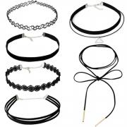 Women's Fashion Lace Choker Chain Necklaces Black Choker