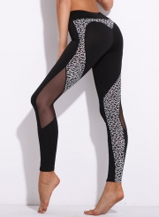 High Waist Heart-Shaped Leopard Yoga Leggings