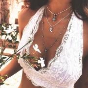 Fashion Vintage Alloy Multilayers Clavicle Pendant Necklace