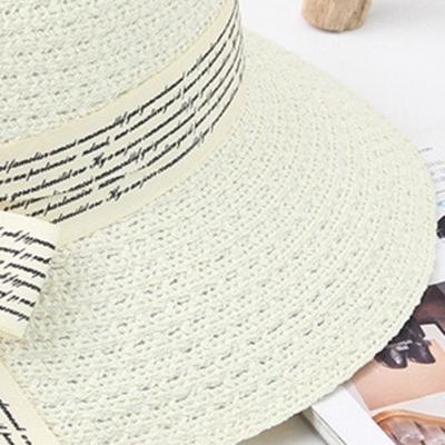 Flower Straw Floppy Foldable Rolled Up Beach Sunscreen Hat stylesimo.com