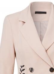 Slim Long Sleeve Lace-Up Button Suit Coat