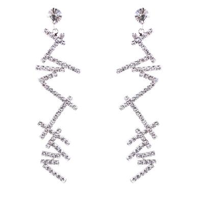 Romantic Novel Alloy Irregular Drop Earrings With Diamond stylesimo.com